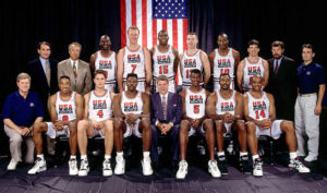 "1992 US Olympic Basketball ""Dream Team"" which won the Gold Medal"